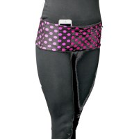 HipS-sister Fashion Sister Reversible Hip Pack - Black/Pink