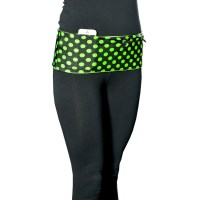HipS-sister Fashion Sister Reversible Hip Pack - Black/Lime